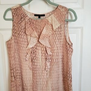 Pink with beige hue snake pattern silk blouse